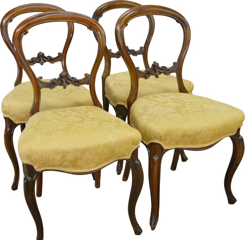 Stupendous 17297 Set Of 4 Rosewood Carved Victorian Chairs Gamerscity Chair Design For Home Gamerscityorg