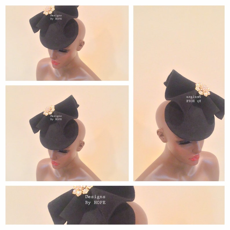 Designs By HOPE   Special Occasion   Haute Couture  Accessories   Ladies   Gifts For Her  Avant-garde  Black Hat  Formal Attire  Millinery