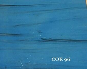 eea4120234d COE 96 Wissmach Reactive Blue Prisma Black Opaque 3mm Fusible Glass WF9638