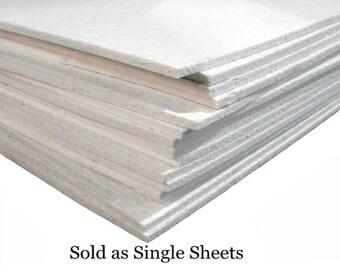 """12x12 Semi Soft FiberFrax Fiber Paper 1/4"""" Thick Sheet KILN MOLD Fusing Supplies"""