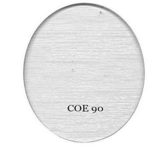 15 Pack of 2 Fusible White Opal 90COE Bullseye Glass Circles