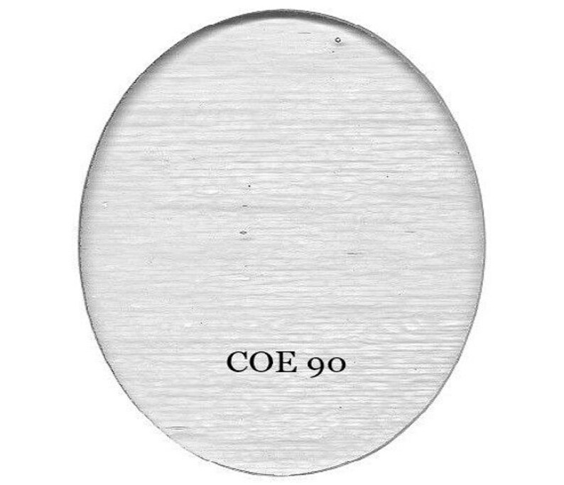 COE 90 Bullseye Clear OVAL Precut Fusible Glass Shape CHOICE Fusing Supplies