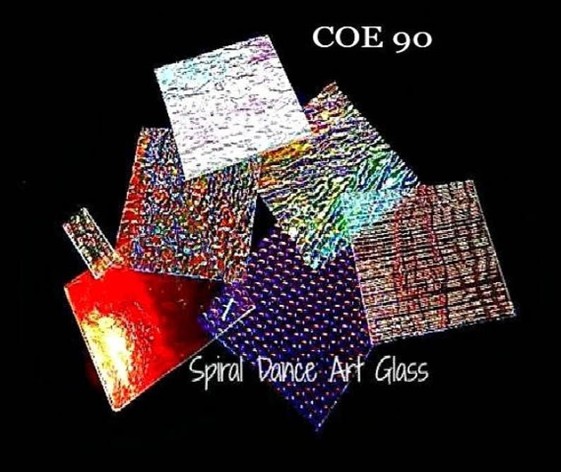COE 90 DichroMagic DICHROIC Clear Ripple Jewelers Scrap Standard 1//2 lb