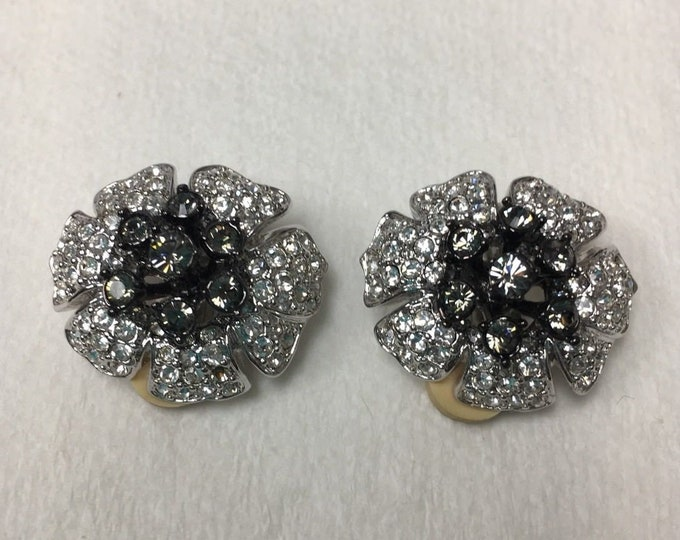 Nolan Miller Crystal Clip On Earrings  - S2436