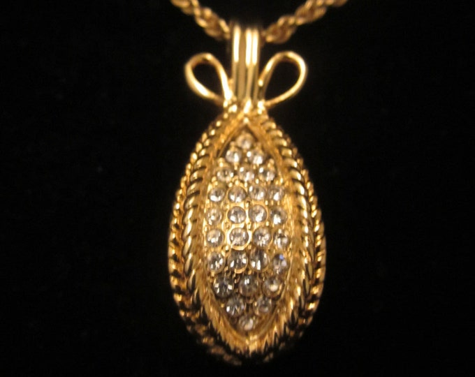 Joan Rivers Pave Crystal Egg Necklace - S1807