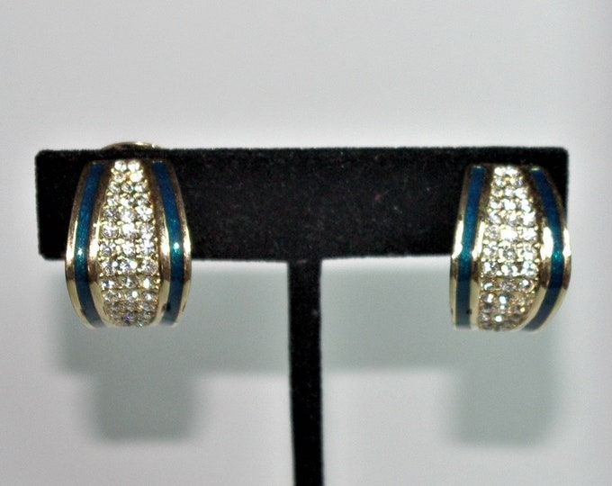Christian Dior Crystal Clip On Earrings - S2427