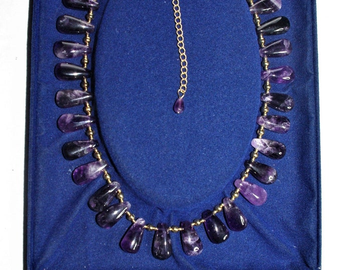 FEBRUARY BIRTHSTONE - Jackie Kennedy Amethyst Necklace with Certificate