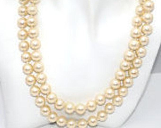 KJL Dual Strand Faux Pearl Necklace - S2170