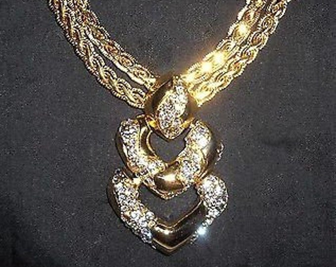 Jackie Kennedy Double Heart Necklace with Certificate #219