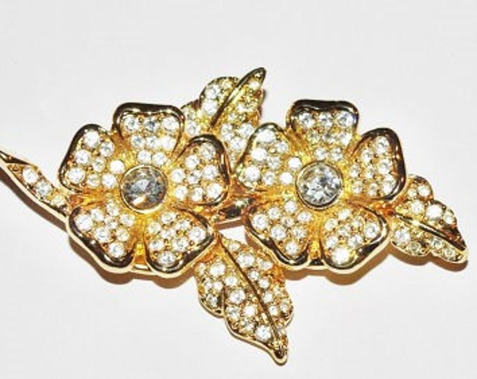 Joan Rivers Crystal Pin with Removable Earrings - S1981