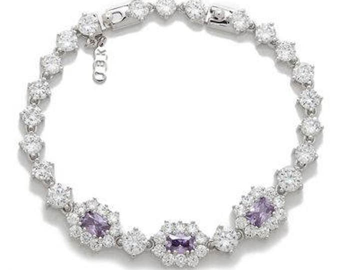 Jackie Kennedy Tanzanite Bracelet Size 7 or 8  with Certificate - 79