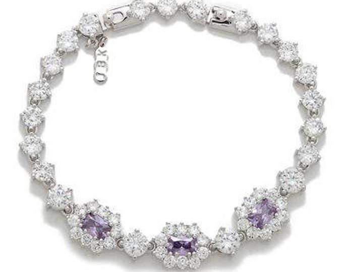 Jackie Kennedy Tanzanite Bracelet Size 7 or 8  with Certificate - 79