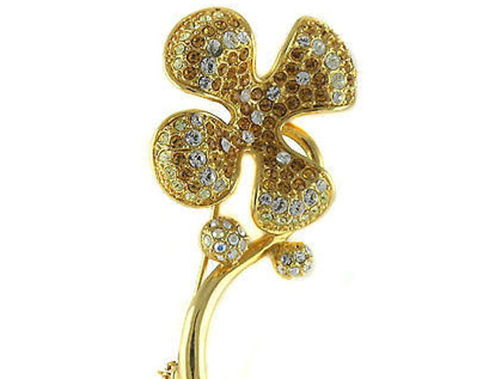 Jackie Kennedy Brooch - 4-Leaf Clover Pin with Certificate - 31