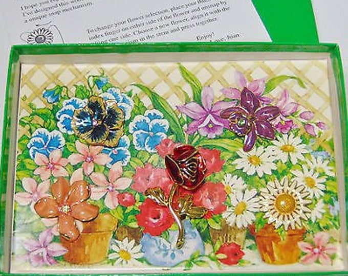 Joan Rivers Snap On Flower Pin Collection - S3078