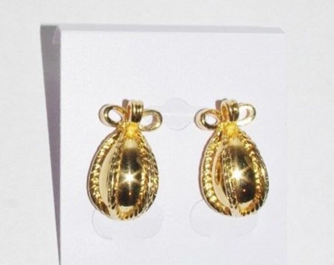 Joan Rivers Gold Egg Pierced Earrings - S1325