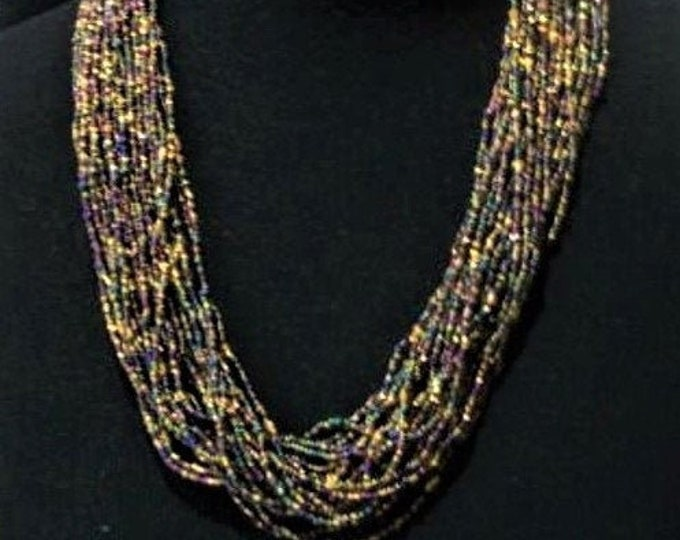 Joan Rivers Necklace - Beaded Torsade  24 Strands - S3224