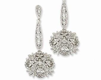 Jackie Kennedy Winter Crystal Earrings - Pierced - No. 240