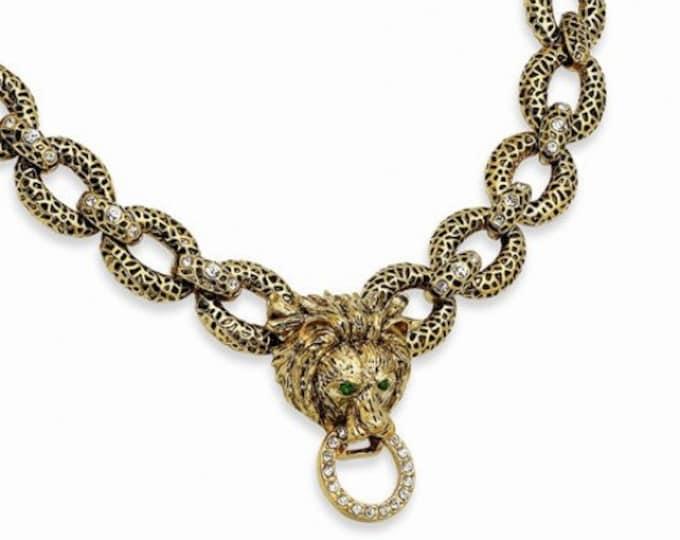 Jackie Kennedy Lion Jewelry Set - Necklace and Bracelet