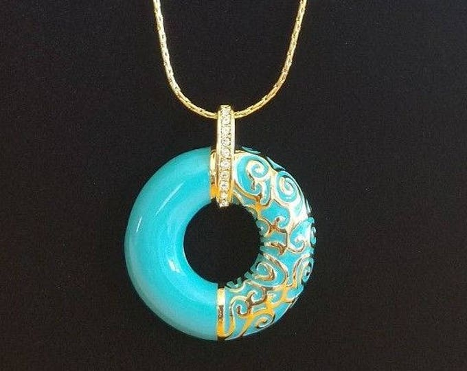 Jackie Kennedy Parisian Necklace in Turquoise - #256