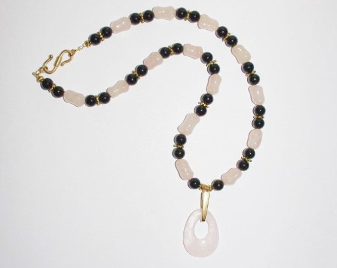 Rose Quartz Natural Gemstone Necklace - S2371