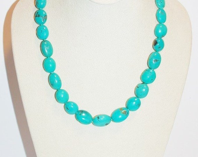 925 Turquoise Natural Gemstone Necklace - S2381