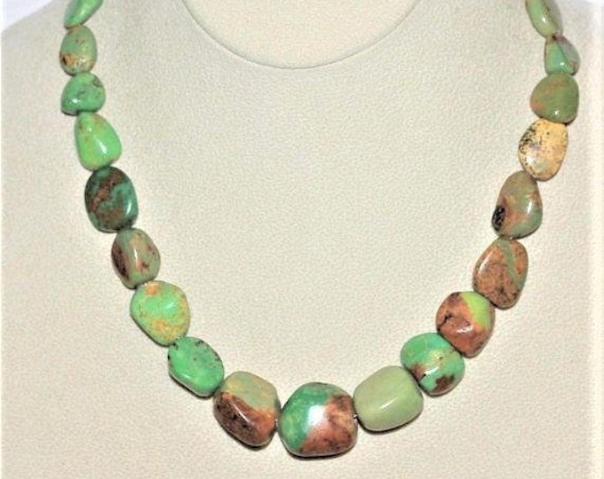 925 Green Turquoise Natural Gemstone Necklace by Jay King - S2360