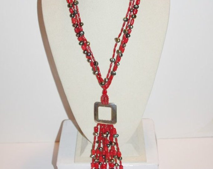 925 Red Coral Necklace by Jay King - S2357