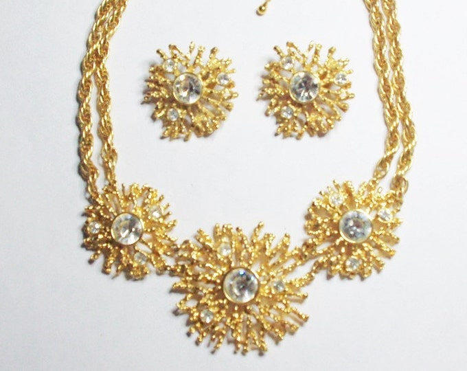Kenneth Lane Jewelry SET - Regal Riches Necklace and Earrings - S1975