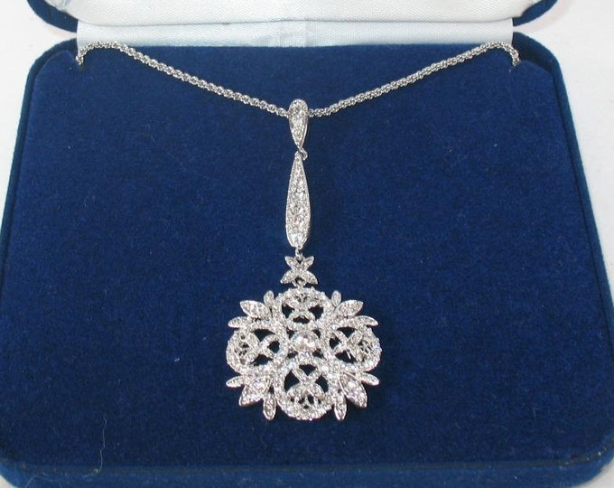 Jackie Kennedy Necklace - WINTER CRYSTAL with Box and Certificate - #223