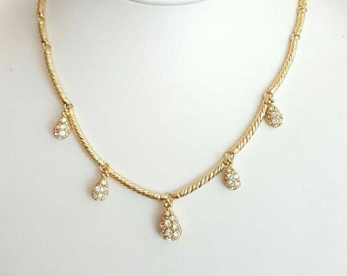 Nolan Miller Crystal Teardrop Necklace - S2053