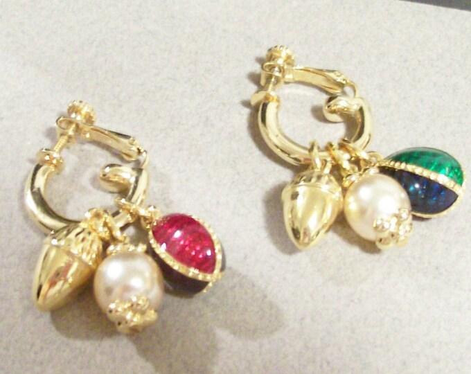 Joan Rivers Egg Charm Earrings - Pierced -  S2345
