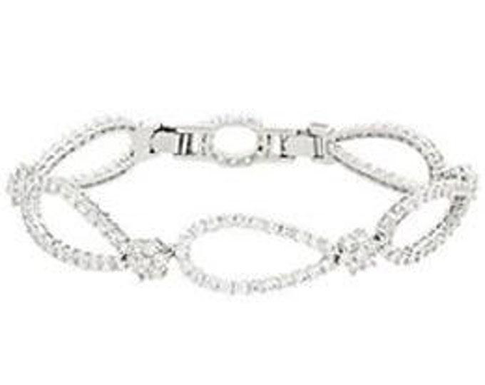 Jackie Kennedy Monte Carlo Bracelet - Silver with Stones - 80