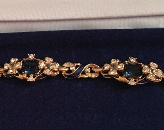 RARE Jackie Kennedy Habsburg Bracelet - Gold Plated with Stones - 229