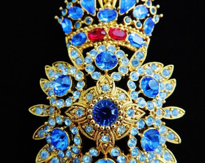 RESERVED FOR JESSICA - Joan Rivers Royal Monarch Brooch