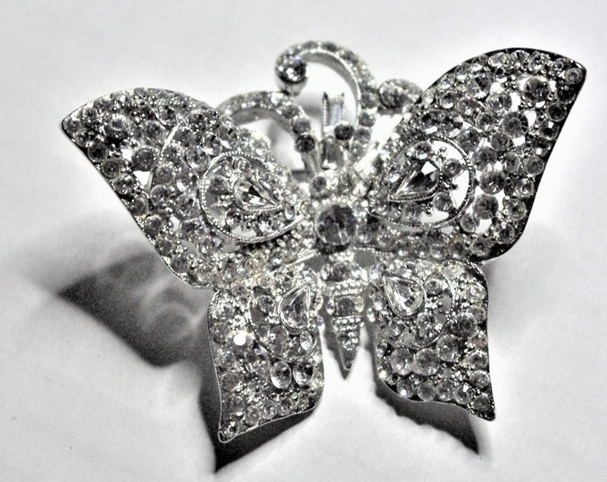 Jose Barrera Crystal Butterfly Brooch - S 3043