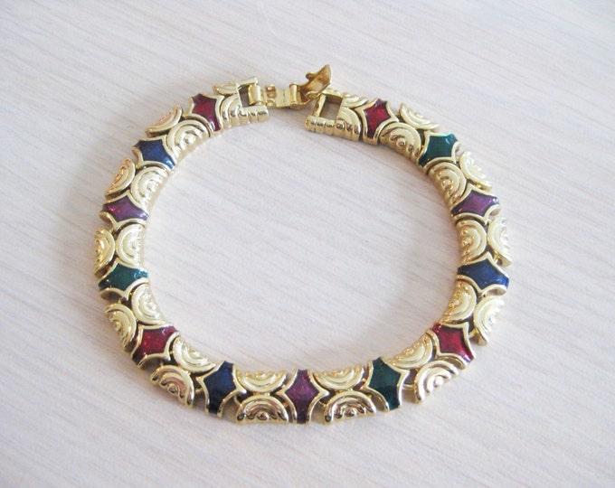 Joan Rivers Multi Color Link Bracelet Size 8 - S1786