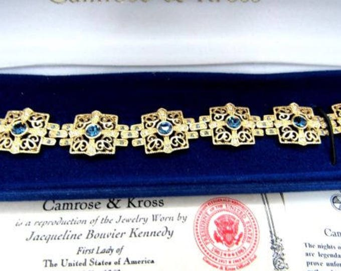 Jackie Kennedy Sapphire Bracelet Size 7 or 8 with Certificate - 101