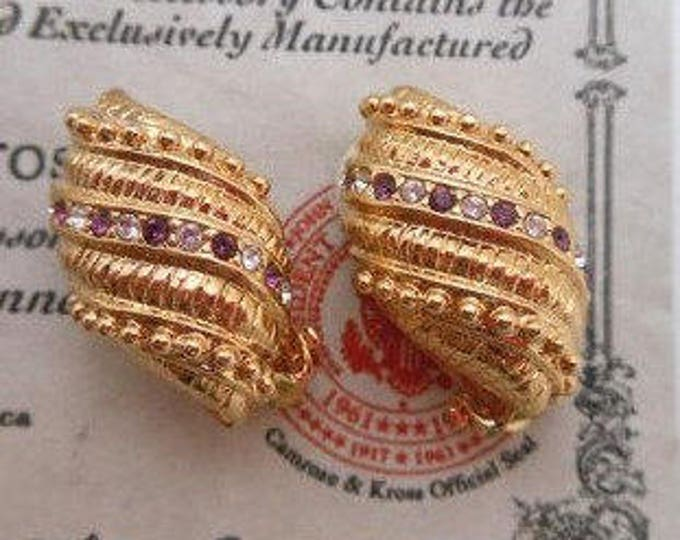 Jackie Kennedy Amethyst Clip On Earrings with Certificate - 9