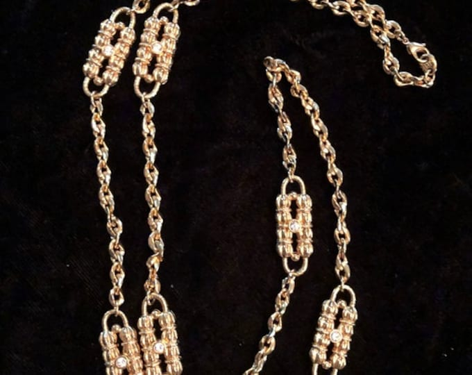 Jackie Kennedy Chain Belt / Necklace Designed by Coco Chanel - Gold Plated