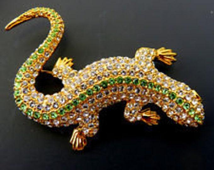 Jackie Kennedy Crystal Lizard Brooch - 56
