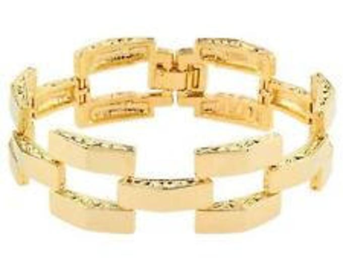 Jackie Kennedy Square Link Bracelet | Gold Plated - No. 263