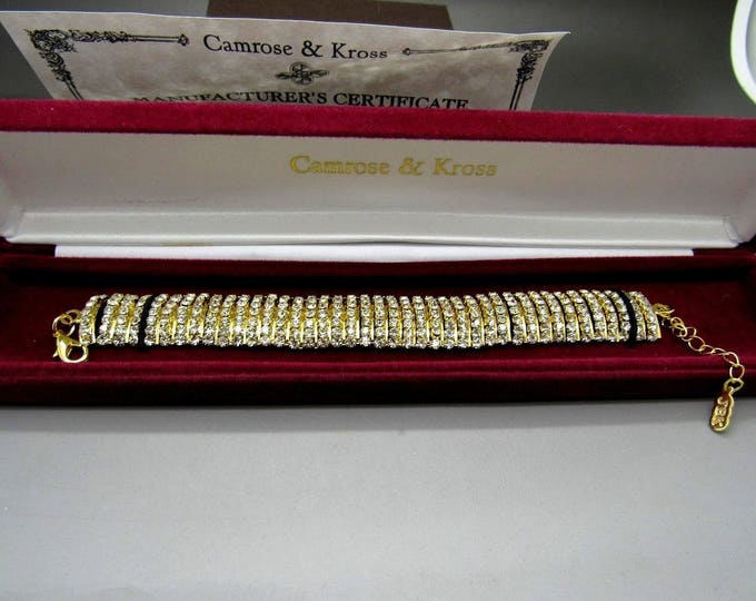 Jackie Kennedy Crystal Bracelet Size 7 or 8 with Certificate - Sz 7 or 8 -