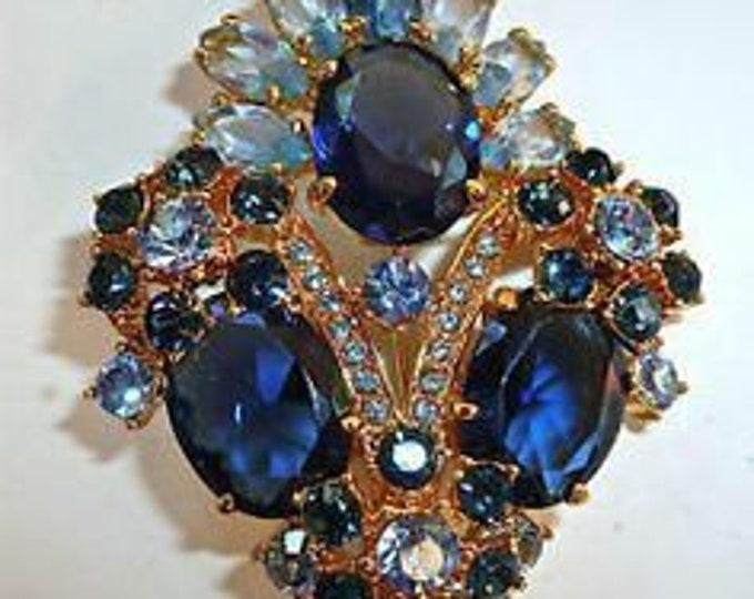 RARE Jackie Kennedy Habsburg Brooch - Gold Plated with Stones - 154