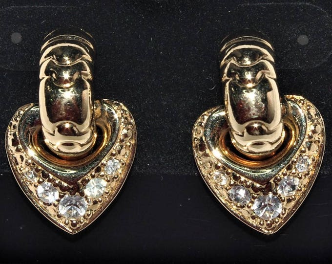 Joan Rivers Reversible Heart Pierced Earrings - S2271