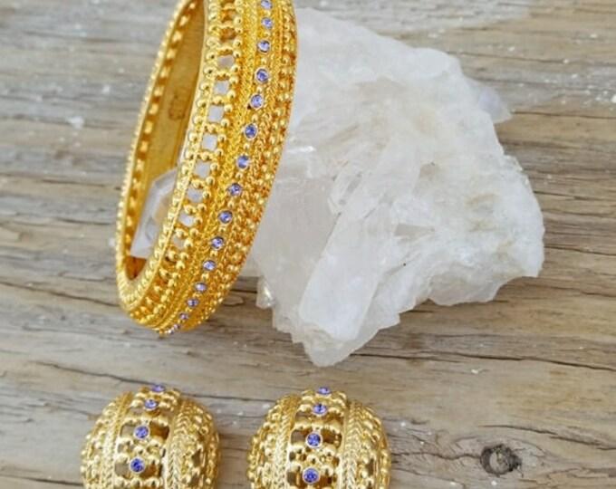 Jackie Kennedy Amethyst Bracelet Set Size 7 with Certificate