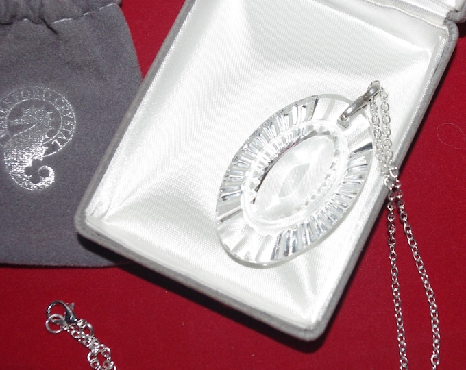 Waterford Crystal Oval Necklace - S3135