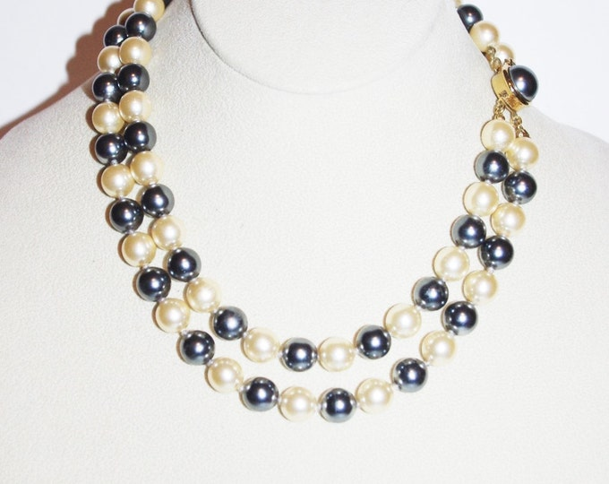 Joan Rivers Gray and White Pearl Necklace - S1079