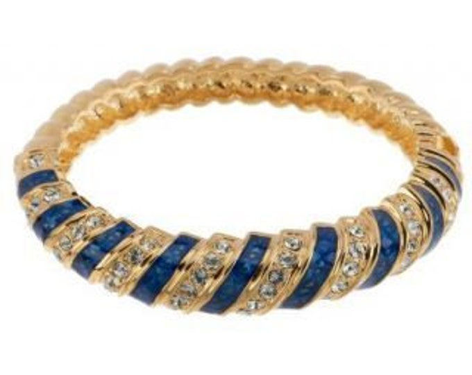 Jackie Kennedy Sapphire Bracelet - Gold with Stones - 314 tms1