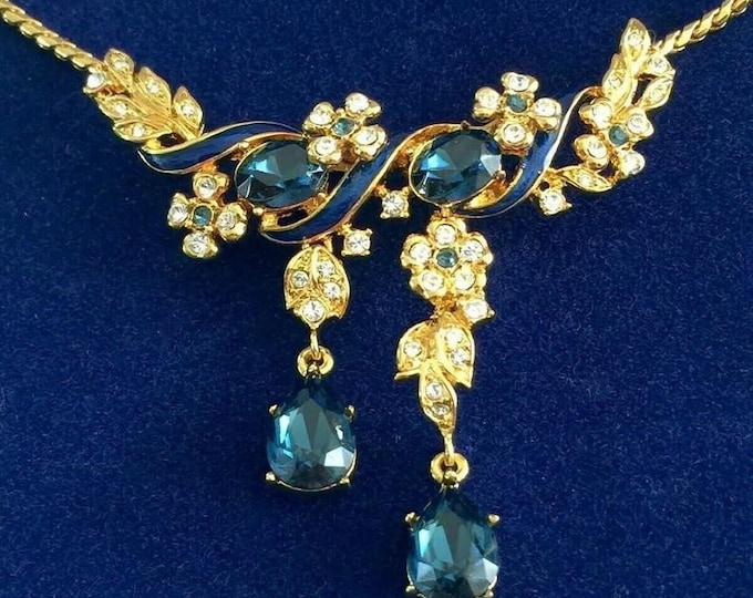 RESERVED FOR RITA - Rare Jackie Kennedy Habsburg Sapphire Necklace with Box and Certificate (Do Not Apply Discount)