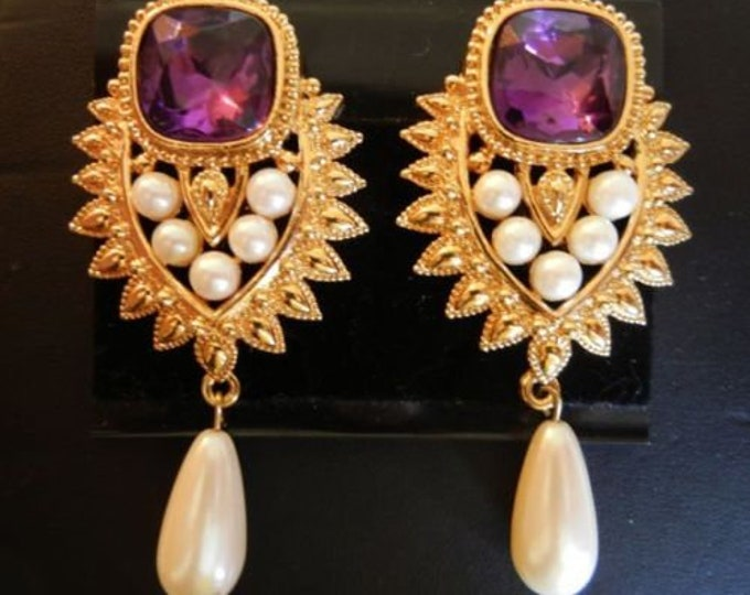 Shaill Jhaveri Clip On Earrings From Liz Taylor's IMPERIAL ELEGANCE Collection - S3021